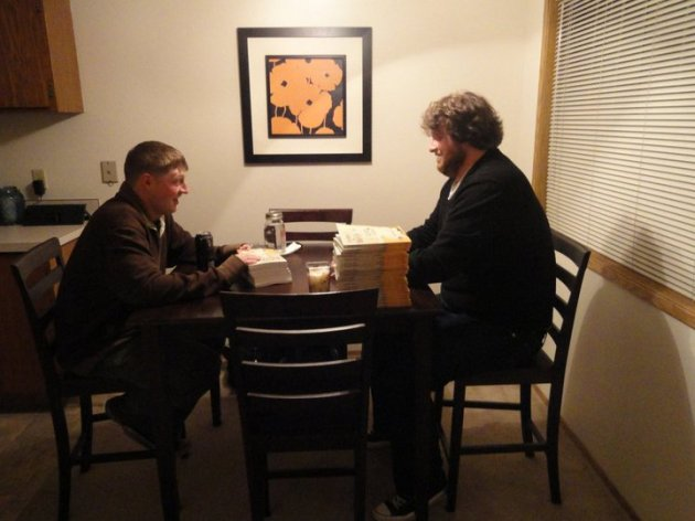 Ron and Chris circa 2011, signing copies of Children of Mercy.  Photo by the great Jill Keller.