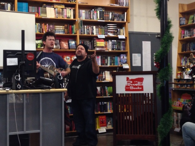 BJE at a book signing at Powell's Books in Portland, OR. Seriously, these guys can rock EVERYWHERE!